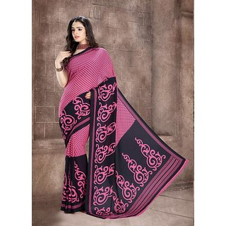Modernistic Indian Beauty Pink Printed Summer Collection Saree