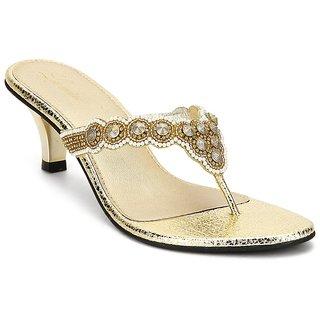 La Mere Women's Gold Heels