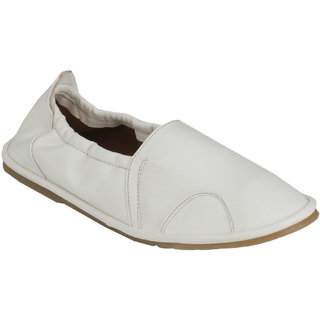 Wave Walk MenS White Casual Loafers (SOCKS-WHITE)