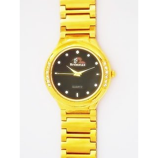 Bromstad Analog IPG Gold Plating Watch 643 G-B  With Gift Box