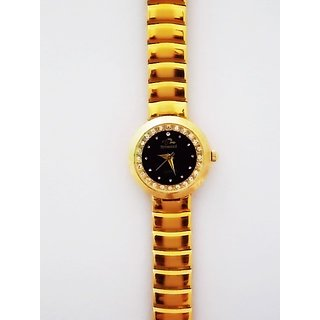 Bromstad Analog IPG Gold Plating Women Watch 655 L-B With Gift Box