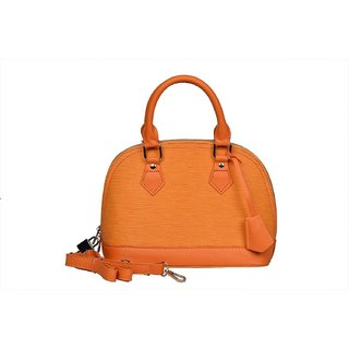 Creamy Orange Fashionable Shoulder Bag