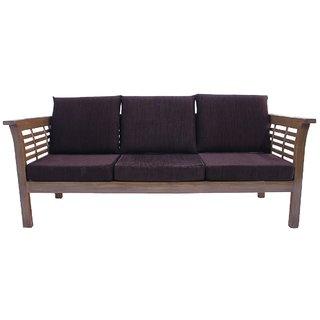 Hans Furnitures 3 Seater Sofa Sagwan