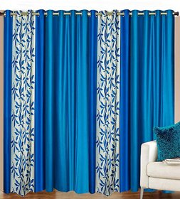 iLiv Stylish curtains combo set of 4 -2ct32nd2aqua7ft