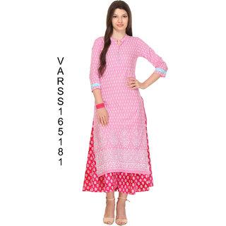 Firstloot Pink Color cambrick kurti