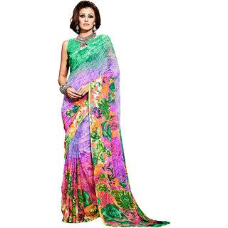 Lovely Look Multi Printed Saree