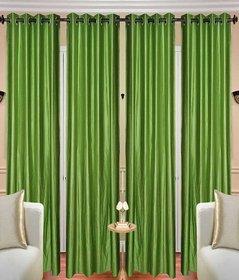 iLiv Stylish Door curtains combo set of 4 7ft - 4greenplain7ft