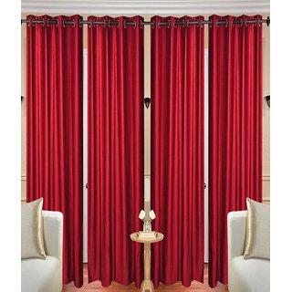 iLiv Stylish curtains combo set of 4 -4maroon5ft