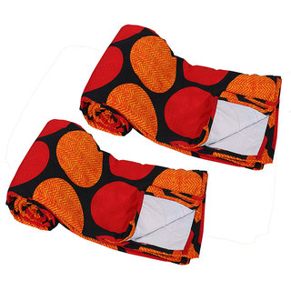 IndiWeaves Micro Fiber   Dohar/Ac Blanket  set for Single Bed (2 pieces)-Multicolor (90774-SB)