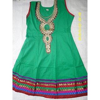 SDFashion Internationals Designer Cotton  Semi Anarkali kurti
