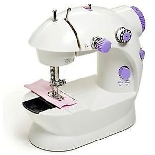 Bluebells India 4 in 1 Mini Sewing Machine with Foot Pedal  Adapter, Portable  Compact Machine