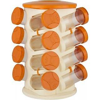 16 jar revolving spice rack