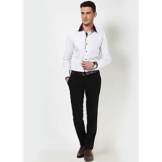 Dazzio Men's White Smart Casual Shirt - Option 16