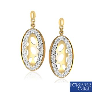 Certified 0.14ct Natural Dialmond Earring Pair 14K Hallmarked Gold ER-0085