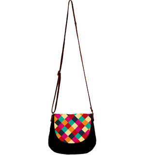 Barisa Epic Multicolor Canvas Cloth Casual Sling Bag - BESB53