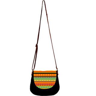 Barisa Epic Multicolor Canvas Cloth Casual Sling Bag - BESB54