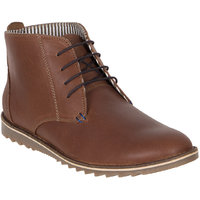 Numero Uno MenS Brown Casual Lace-Up Boots (NUSM-507-BROWN)