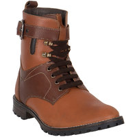 Numero Uno MenS Tan Casual Lace-Up Boots (NUSM-510-TAN)
