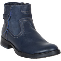 Numero Uno MenS Blue Casual Lace-Up Boots (NUSM-512-NAVY)