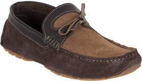 Numero Uno Men's Tan Slip On Casual Shoes