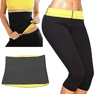 Hot Shapers Pant And Hot Belt Combo Body Shaper Waist Shaper Tummy Tucker Combo