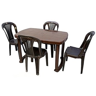 Buy Cello Plastic Dining Table With 4 Chair Set Online