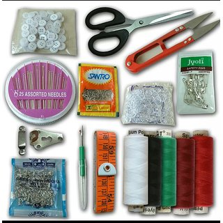 PACK OF 12 EMARGENCY TRAVEL SEWING KIT NEEDLES BUTTONS CUTTER TAILOR TAP THREADS