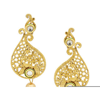 buy kundan pearl jhumka earrings for women girls in