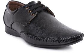 Jovelyn Black Leather Lace Formal Shoes J3181