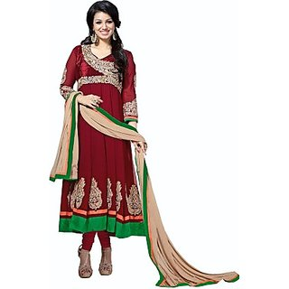 JMDtrade Embroidered Semi-stitched Salwar Suit Dupatta,Georgette Material WITH LINING CLOTH
