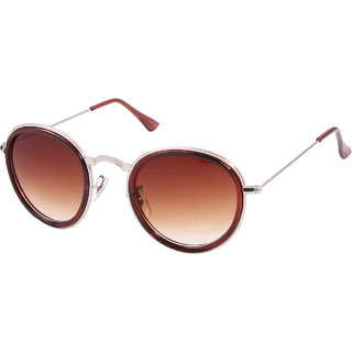 Lens  Brown Over-Sized Sunglasses-LOS-0602