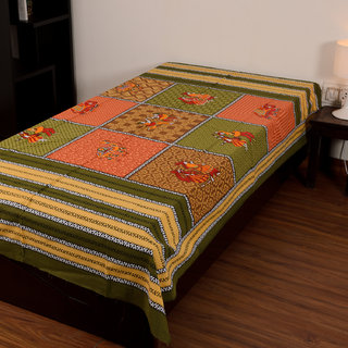 Chokor Jaipuri Cotton Single Bedsheet Without Pillows