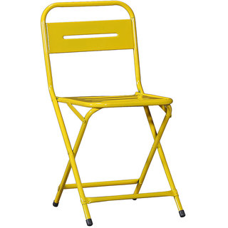 Iron Folding Chair Yellow