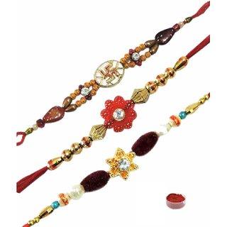 A Set of  Fancy Rakhis Dori Rakhi
