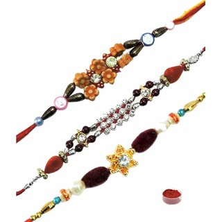 Endeavoring Rakhi Set of Three