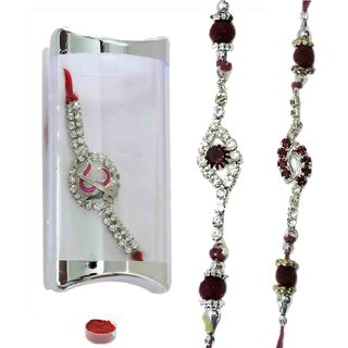 Pleasurable Set of Three American Diamond Bracelet Rakhis