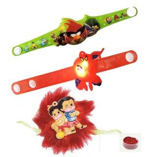 3pcs Famous Cartoon Character Kids Rakhis