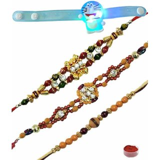 Tempting Set of 4 Kids  Fancy Rakhis