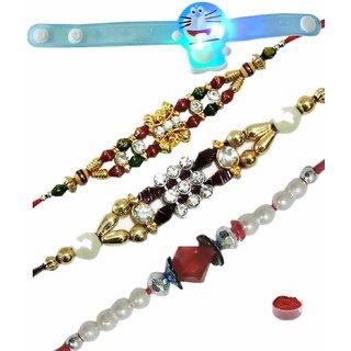 Various Designing Rakhi Set of 4