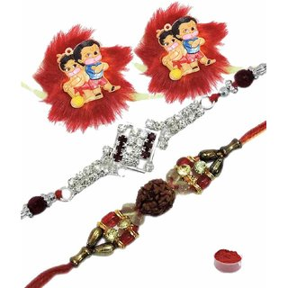 Pious Set of 4 Kids  Bhaiya Rakhis
