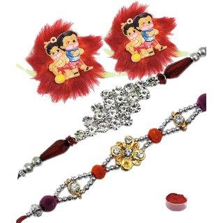 Charming Rakhi Set of 4 Kids  Bhaiya Rakhis