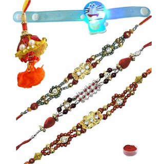 Remarkable Set of 5 Kids  Fancy Rakhi Lumba