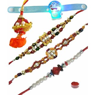 Blissful Set of 5 Kids  Fancy Rakhi Lumba