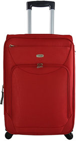 Timus Upbeat Spinner 65 CM 4 Wheel Trolley Expandable  Check-in Luggage - 24 inch (Red)