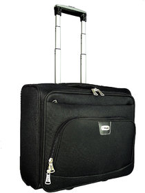 Timus Atlanta Cuba 4 Wheel Black Strolley Suitcase For Travel