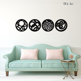 H K Art designer wall clock