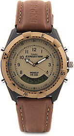 Timex Quartz Beige Round Unisex Watch MF13