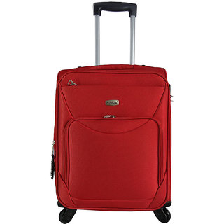 Timus Upbeat Spinner Red 55 CM 4 Wheel Strolley Suitcase For Travel Cabin Luggage - 20 inch