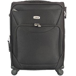 Timus Upbeat Spinner Black 55 CM 4 Wheel Strolley Suitcase For Travel Cabin Luggage - 20 inch