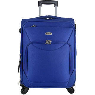 Timus Upbeat Spinner Blue 55 CM 4 Wheel Strolley Suitcase For Travel Cabin Luggage - 20 inch